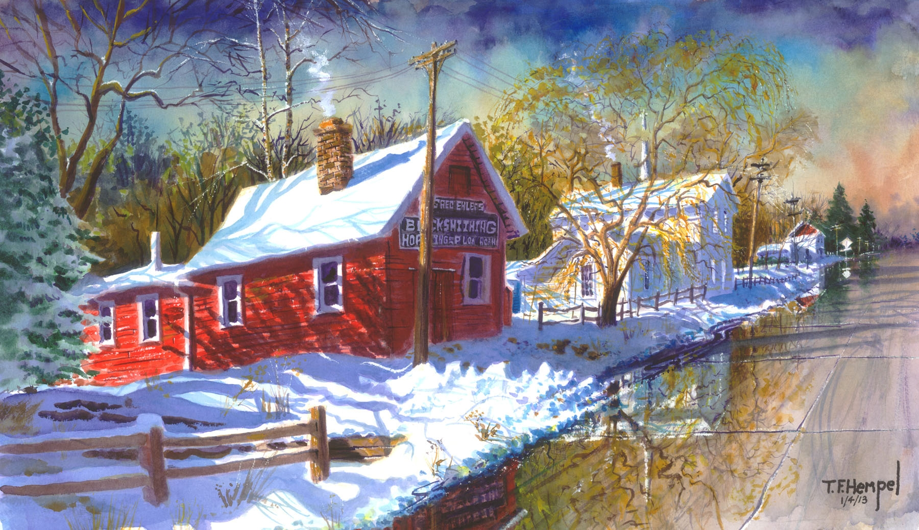 Pioneer Village T F Hempel Painter And Published Author