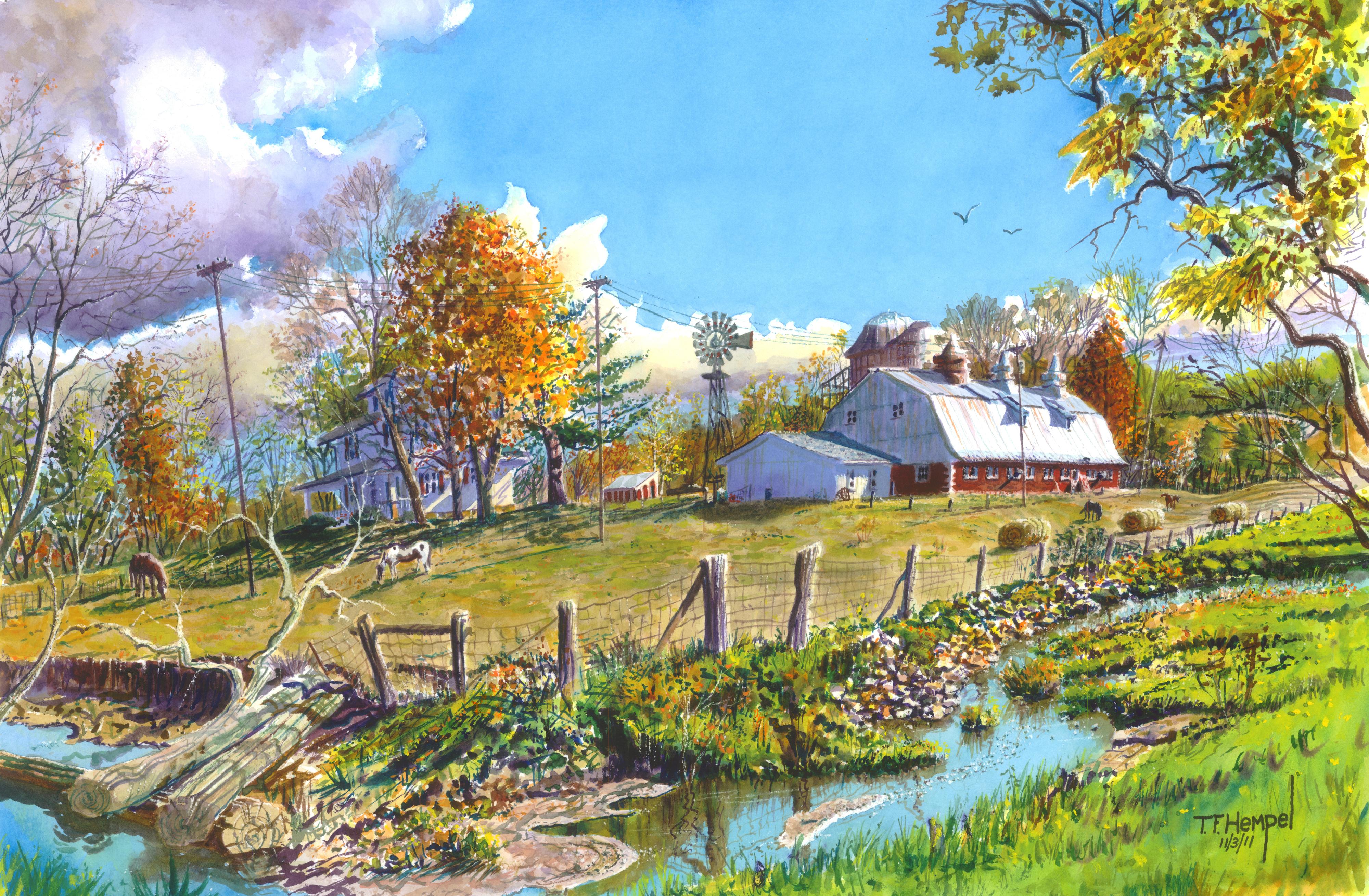 Watercolor Paintings Gallery T F Hempel Painter And